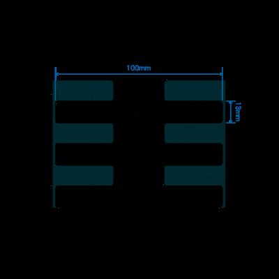 Zebra RFID štítek Silverline slim M4i, 100mm x 13mm, PET, 800 et/kot