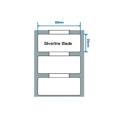 Zebra RFID štítek Silverline blade, 60mm x 25mm, PET, 500 et/kot