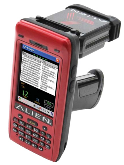 Alien ALH-9011 Průmyslový mobilní počítač, 2D, RFID, Wi-Fi, QVGA, WM, GPS, 3G, pistole, UHF 865-868 MHz