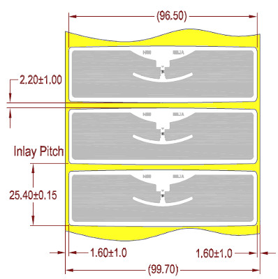 "Alien UHF RFID tag, ALN-9654-FWRW ""G"" Higgs-3, 22mm x 96mm, nalepovací"