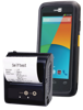 CipherLab Mobile set of rugged smartphone and receipt printer