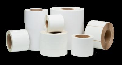 Samolepící etikety 32mm x 25mm, bílý papír, 3000 et/kot. (cena za 1000 ks)