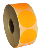 Self-adhesive labels circle 40mm paper, signal orange, 2000 pcs/roll (price for 1000 pcs)