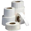 Self-adhesive labels 20mm x 5mm, white PE (polyethylen),2 rows, perforation,  price per 1000 lbl
