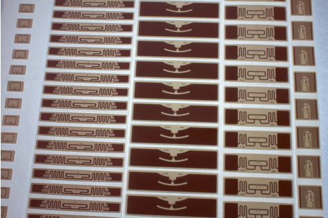 Set of testing RFID labels