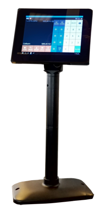 "Birch TC-80 Space saving VGA monitor on pole stand, tFlat, 8"", 800x600"