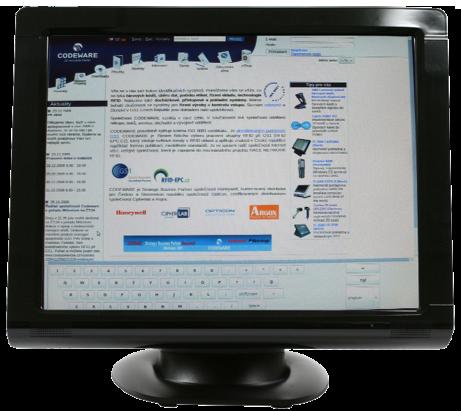 """Birch TM-3000 17"""" Dotykový monitor, rezistentní, poměr stran 4:3, černý"""