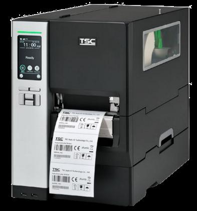 TSC MH240P Průmyslová tiskárna čárových kódů s dotykovou LCD, int. navíječ, 203 dpi, 14 ips