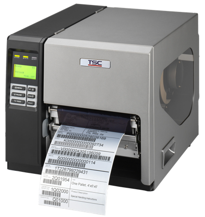 TSC TTP-268M Metal Industrial Bar Code Printer, 6 inch wide print
