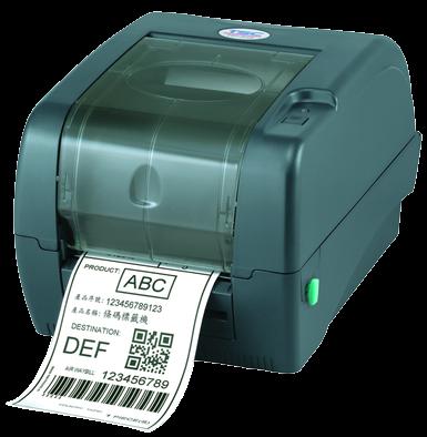 TSC TTP-345 Stolní TT tiskárna čárových kódů, 300 dpi, 5 ips, tmavá